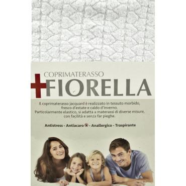 Coprimaterasso Spugna Elasticizzata Fiorella - Antiacaro Anallergico Traspirante