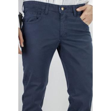 Pantaloni Uomo Slim taglia 44 Blu Scuro - modello Casual 5Tasche - PE