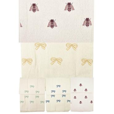 Asciugamani Spugna con Ricamo