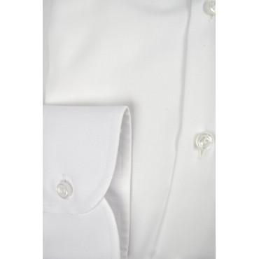 Camicia Uomo Bianca Tessuto No Stiro Twill senza Taschino - Philo Vance - N10