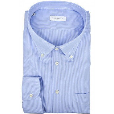 Shirt Men Formal Dark Blue Tintaunita neck French - Philo Vance - the Azores