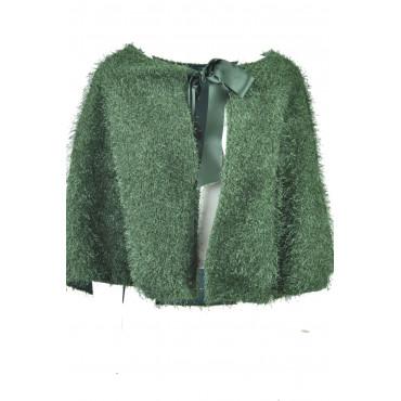 Mantella Donna Poncho Verde smeraldo elegante