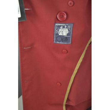 Impermeabile Donna Rosso S 42 Doppiopetto modello Bogart - Impervela