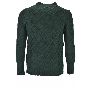 Mens Pull Crew Neck Pull En Laine Lourd Diamants