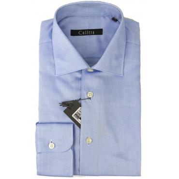 Camicia Uomo Classica Azzurro collo Italia Oxford - Cassera