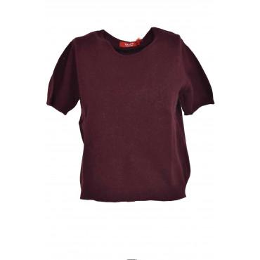 Twin Set Donna Cardigan Girocollo + Tshirt Misto Cachemire - Classico