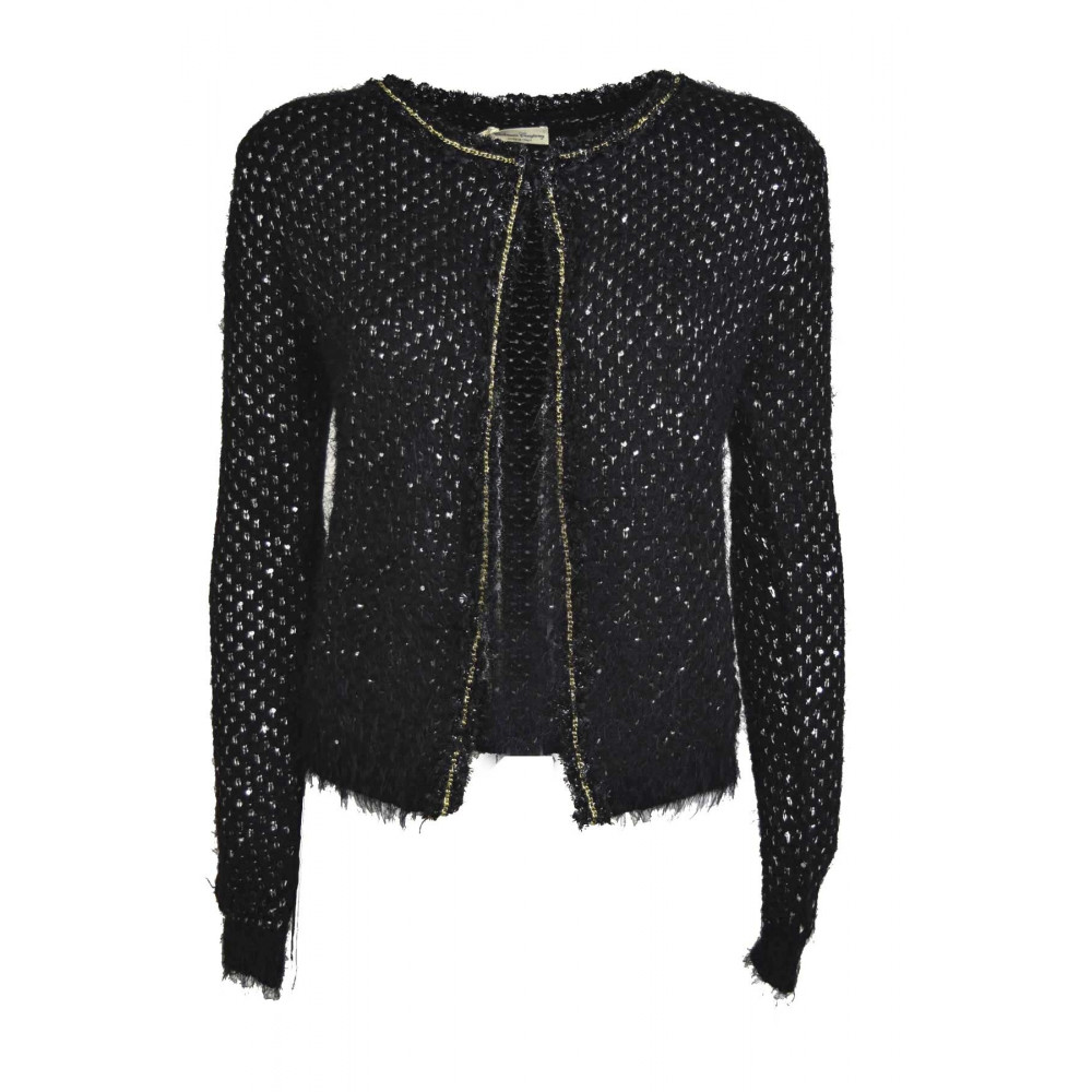 Jacket Knitted Women Cardigan Chanel Sequined Cashmere Silk Color ... 4ed0ff130