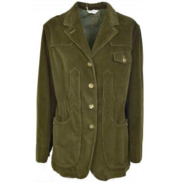 Giacca Donna Maremmana Capalbio - Verde Militare Velluto Cotone - Casual Country Chic