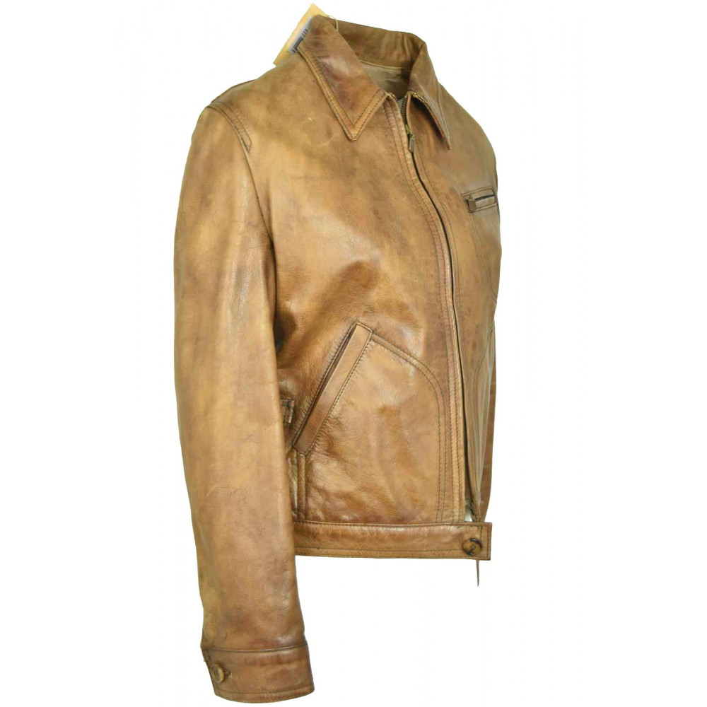low priced b5935 28dd5 Country Capalbio Giacca Beige Qzvxwxbisb Chic Pelle Donna ...
