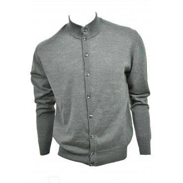Pull Homme Bomber Boutons - Pure Laine