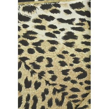 Completo Lenzuola Stampa Leopardo Animalier Sotto Angoli Puro Cotone - Magia d'Africa