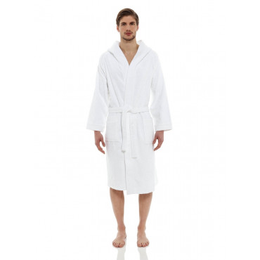Bathrobe White Terrycloth Heavy Luxury
