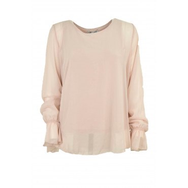 Wide Blouse Women's Pale...
