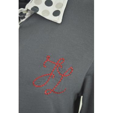 Mujer Polo Shirt Johnny Lunares Gris Tamaño De Color T S Corderos xwfnqw