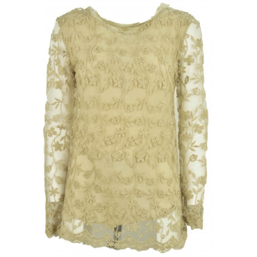 Blouse Tunic Women's Beige...