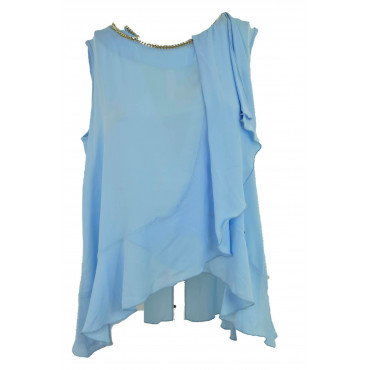 Blouse-Woman Asymmetric...