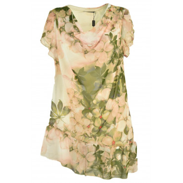Tunic Woman Pink Green...