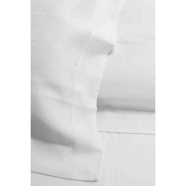 Lenzuola 100% Puro Lino Bianco 270x290 Sotto Piano 7200