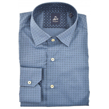 Camicia Uomo SlimFit Blu...