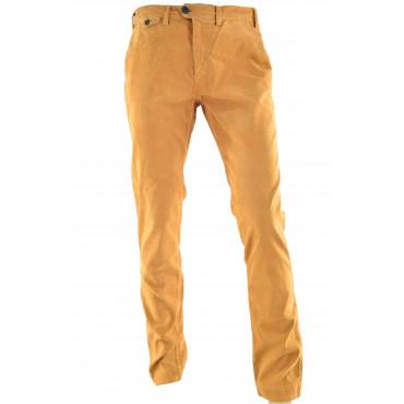 Pantaloni Uomo Velluto Costine Casual Tasche Laterali Chino