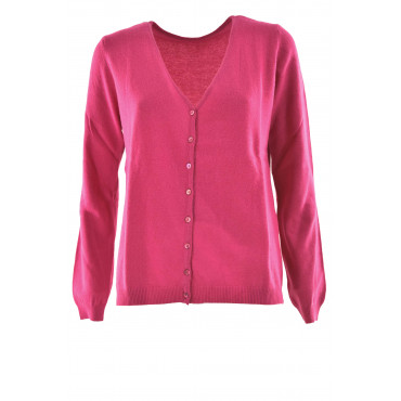 Cardigan V Woman's Shirt open buttons Wool cashmere