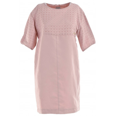 Dress Woman Alcantara Openwork half sleeve