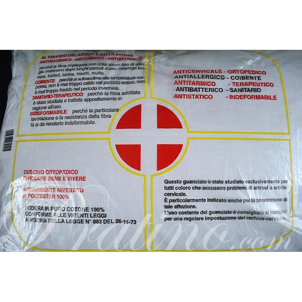 Cuscino Guanciale Sanitario Fibra Anallergica 50x80 cm 900 gr -  Camera da Letto