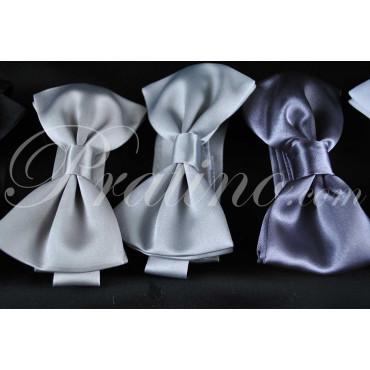 Papillon Cravatta a Farfalla Uomo Grigio Scuro Raso 100% Pura Seta Made in Italy -  Cravatte ed Accessori